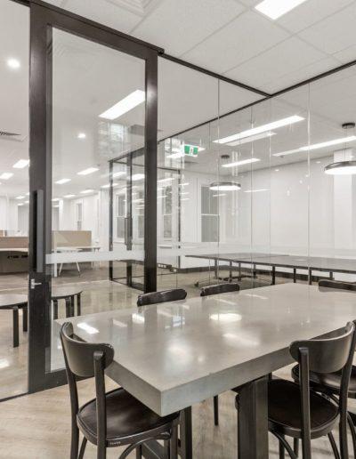 Insitu concrete table installed in Perth WA