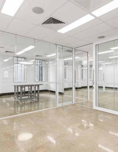 Polished concrete installed in a heritage building WA.