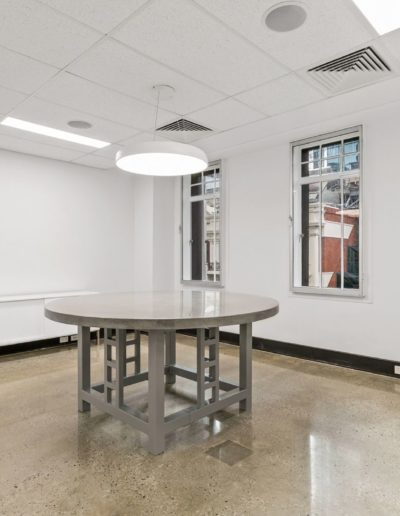 Polished concrete table and floor installed in Perth WA.
