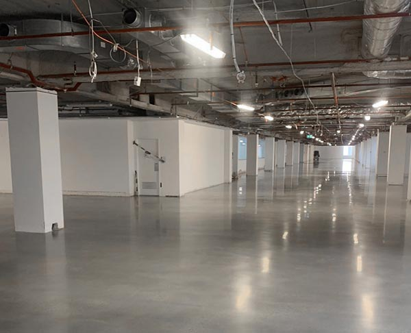 industrial polished concrete floor in Perth