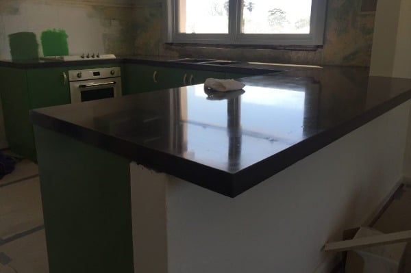 cleaning concrete benchtops