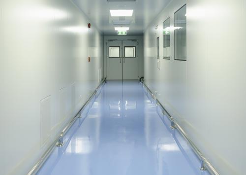 Laboratory epoxy floor