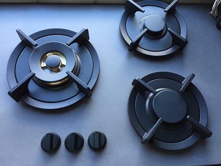 concrete kitchen cooktop