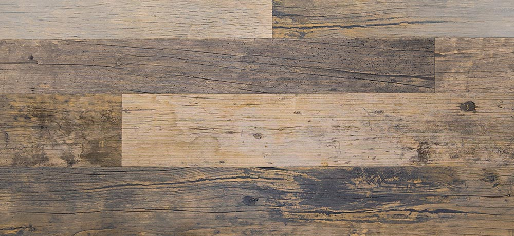 Wood floor planks with molds