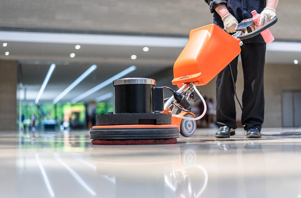 Cleaning and maintenance for polished concrete