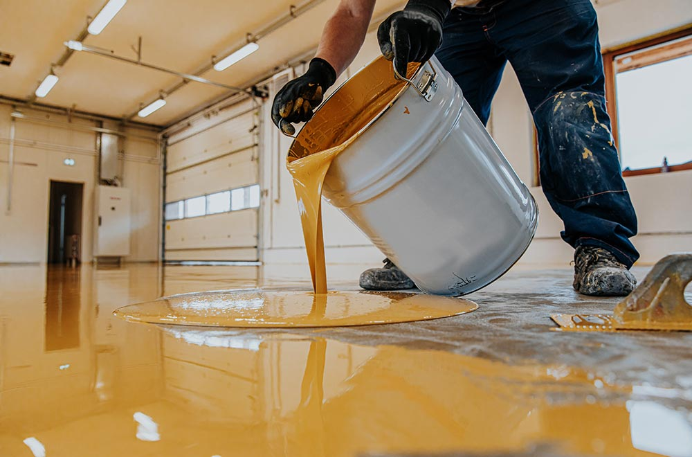 Applying epoxy resin costs a lot less compared to installing polished concrete