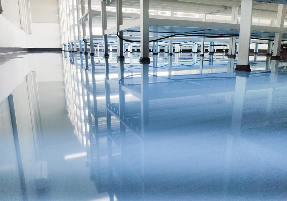 Epoxy improves floor reflectivity by as much as 300%