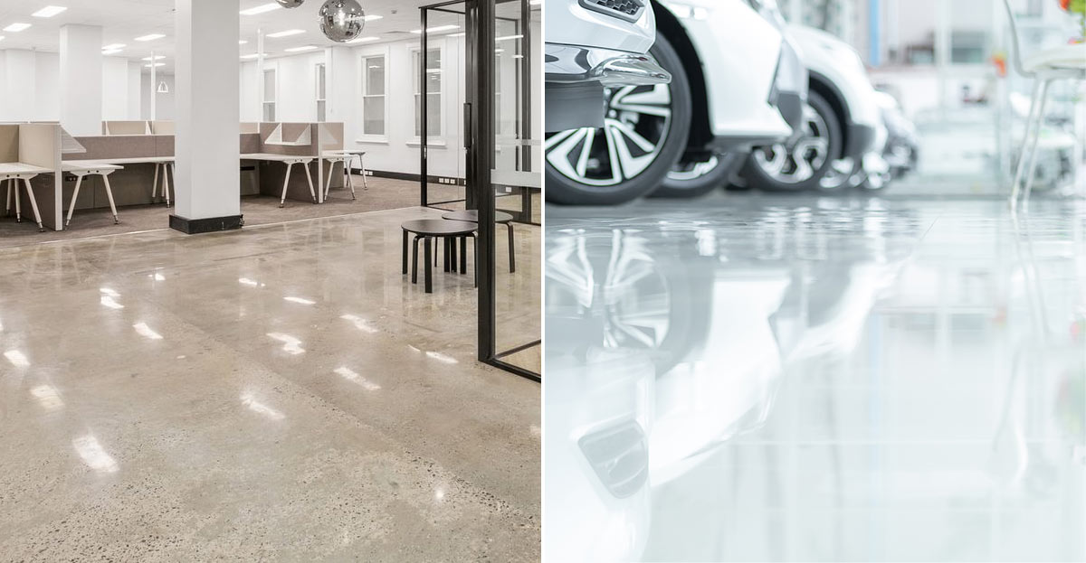 Polished Concrete vs Epoxy – What are the differences and which is better?