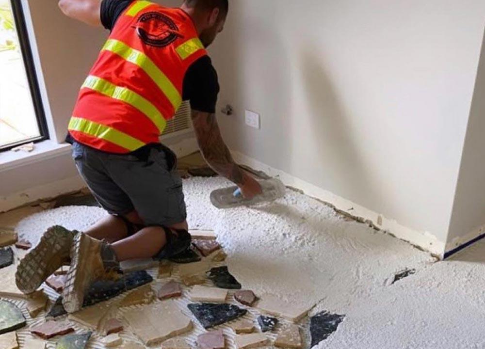 Pangaea flooring with Arctic White base