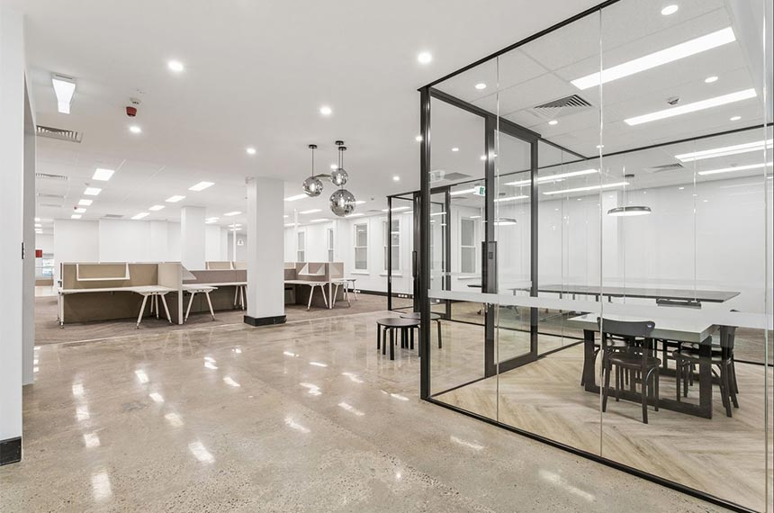 Polished concrete installed in Perth WA