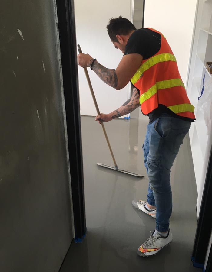 smoothing over self levelling compound floor